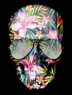 HAWAII SKULL FLOWERS