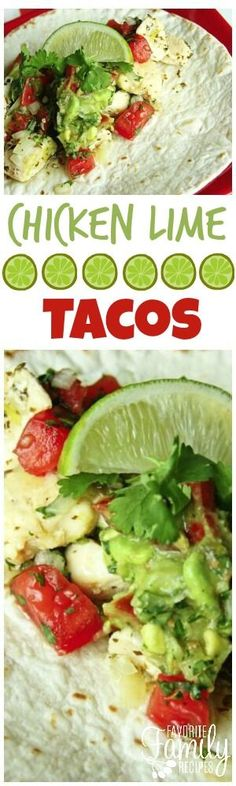 These Chicken Lime Tacos are fresh, zesty, and just plain delicious. You will love the bright, summery flavor in each bite! via @favfamilyrecipz