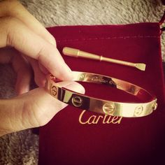 Check out my Instagram babes: @mmarisap Cartier love bracelet