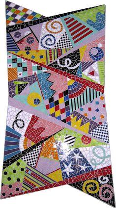 Mosaic crazy quilt by rhonda heisler