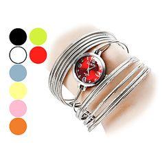 Naisten+Fashional+Style+Steel+Analoginen+kvartsi+rannerengas+katsella+(eri+värejä)+–+EUR+€+8.27