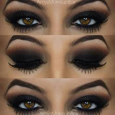 40 Eye Makeup Looks for Brown Eyes ❤ liked on Polyvore featuring beauty products, makeup, eye makeup and eyeshadow