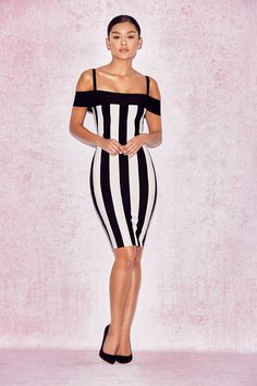 9cd00db64a6f5 50% Discount On Sale 2017 Fashion Style Striped Bandage Dress Club Dresses