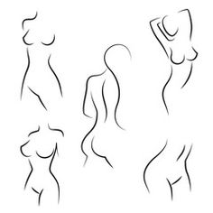 Nude woman silhouettes vector - Buy this stock vector and explore similar vectors at Adobe Stock Silhouette Tattoos, Silhouette Painting, Woman Silhouette, Silhouette Vector, Minimal Drawings, Art Drawings Sketches, Body Drawing, Woman Drawing, Woman Sketch