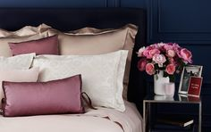 cream, rose pink, champagne, and taupe with a sheen- great color palette.