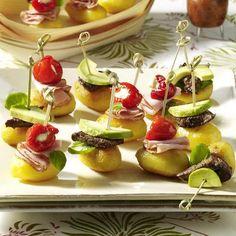 Receitas - 2 variedades de espetinhos de batata - Petiscos.com