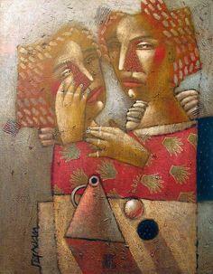 Alexander Gerasimov, Petersburg-based artist, b. Riga, Latvia 1955.