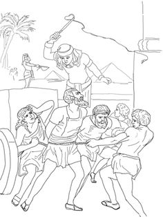 Egyptian Enslavement Of Israelites Coloring Page From Moses Category Select 27278 Printable Crafts Cartoons Nature Animals Bible And Many More