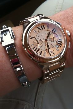 Michael Kors watch with large roman numerals