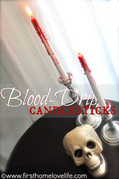 """""""Bloody"""" Candle Halloween Decorations #halloween #spooky #decorations"""