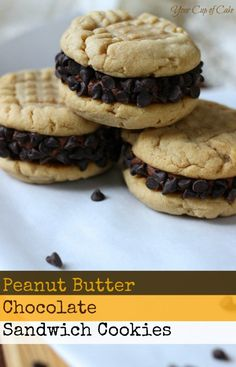 Peanut Butter Cookie Cupcakes Chocolate cake with Peanut Butter cookie ...