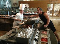 Beach Palace: fresh omelettes at breakfast buffet