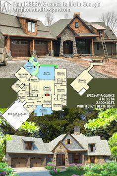 Architectural Designs House Plan 16883WG gives you 4 beds, 3.5 baths and over 2,400 sq. ft. of heated living space. Ready when you are. Where do YOU want to build? #16883WG #adhouseplans #architecturaldesigns #houseplan #architecture #newhome #newconstruction #newhouse #homedesign #dreamhome #dreamhouse #homeplan #architecture #architect #craftsmanhouse #craftsmanplan #craftsmanhome