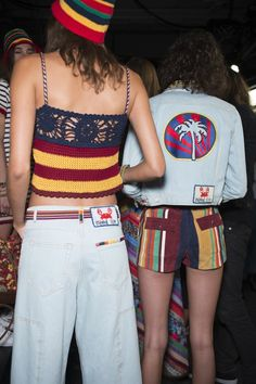The Darker Horse: Spring 2016: Tommy Hilfiger | Crochet Striped Top Runway | Backstage