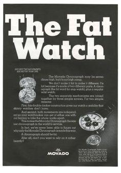 1966 Movado Chronograph vintage print ad. #movado #chronograph #watch #watches #vintage #ads #stawc