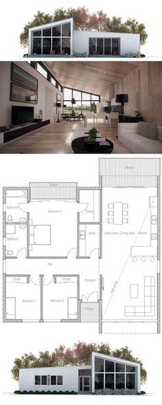 Modèle de maison Panama -  Retrouvez tous les types de maison à - plan de maison rectangulaire plain pied