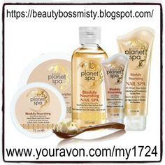 Try Avon's Planet Spa Collection in order to escape, relax and indulge. Purchase this luxurious online only collection and dive into your deluxe spa experience. Shop Avon Planet Spa online at www.youravon.com/my1724 Spend $50 and get free shipping and 20% off use coupon code: WELCOME #AVON #BUYAVONPLANETSPA #PLANETSPASHEABUTTER #PLANTSPAPRODUCTS