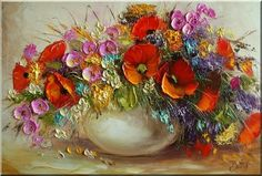Цветы мастихином от польской художницы Ewa Bartosik | Дарите женщинам цветы! Пусть они знают, что любимы! (часть-1). Обсуждение на LiveInternet - Российский Сервис Онлайн-Дневников