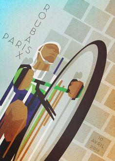 Mathew Hayman wins Paris-Roubaix 2016 by Bruce Doscher Roubaix France, Paris Roubaix, Poster Retro, Vintage Posters, Cycling Art, Road Cycling, Cycling News, Cycling Jerseys, Road Bike