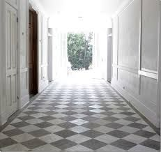 n the Veranda House of Windsor – the entry hall runs from front door to back. Filled with white and gray marble, it looks stunning here, seen in its raw state before construction was even finished. Windsor is really into the gray and white marble floors – Tiled Hallway, Hallway Flooring, Kitchen Flooring, Grey Hallway, Entry Hallway, Kitchen Backsplash, White Tiles, White Marble, Checkerboard Floor