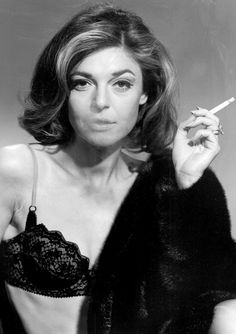 """Press photo of Anne Bancroft as Mrs. Robinson from the 1967 movie """"The Graduate'. Vintage Hollywood, Hollywood Glamour, Hollywood Actresses, Classic Hollywood, Actors & Actresses, Anne Bancroft, Films Cinema, Actrices Sexy, Smoking Ladies"""