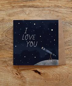 I love YOU greeting card - constellation card, star greeting card, valentine card, love greeting card, night sky - I love you greeting card constellations card stars - Simple Canvas Paintings, Easy Canvas Art, Small Canvas Art, Mini Canvas Art, Cute Paintings, Star Painting, Diy Painting, Painting & Drawing, Hippie Painting
