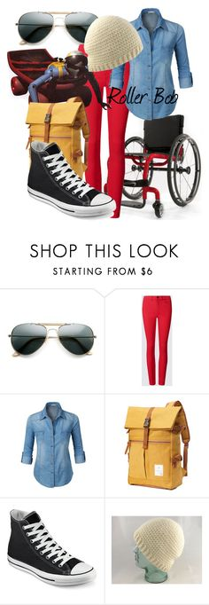 """Roller Bob (A Disney-Inspired Outfit)"" by one-little-spark ❤ liked on Polyvore featuring LE3NO, Converse, disney and disneybound"