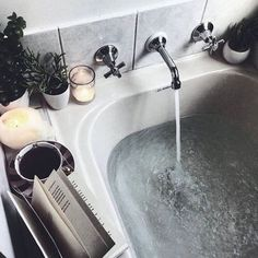 What better way to add hygge into your life than candles, tea, a hot bath and your favourite book? Check out our top tips for adding hygge into your bathroom right here! Sweet Home, Decoration Inspiration, Decor Ideas, Home And Deco, Interior Exterior, Humble Abode, My New Room, Bath Time, Home Design
