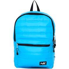 """""""Puff't"""" Backpack by Mojo Backpacks (Aqua) #InkedShop #blue #bookbag #backpack #bag"""