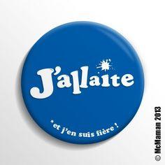 Badge d'allaitement J'allaite et j'en suis fière ! Bleu McMaman