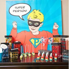Vintage Super Hero Printable Pop Art Poster Decor $25