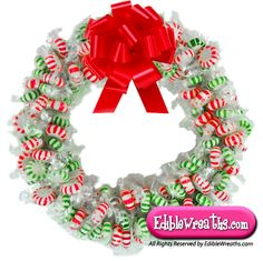 candy wreath is a mixture of Starlight Peppermint Mints and Starlight . Christmas Candy Crafts, Great Christmas Gifts, Christmas Goodies, Holiday Crafts, Christmas Holidays, Christmas Decorations, Christmas Chocolates, Christmas Ornaments, Happy Holidays