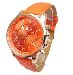 Quality Geneva Platinum Watch Women PU Leather wristwatch casual dress watch Fashion Romantic