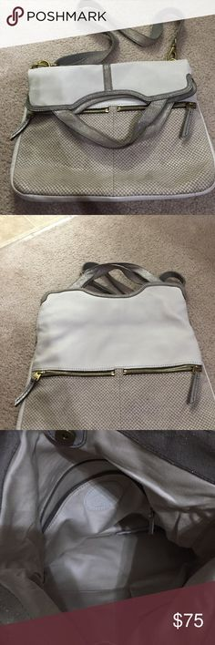 Fossil leather cross body Fossil leather cross body white silver and gold Fossil Bags Crossbody Bags