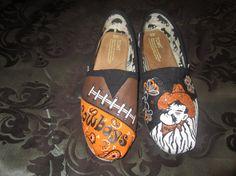 More custom painted TOM's. I must buy these before football season!! GO POKES!