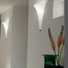 De Majo Olimpia A wall | elegant white Murano glass wall light