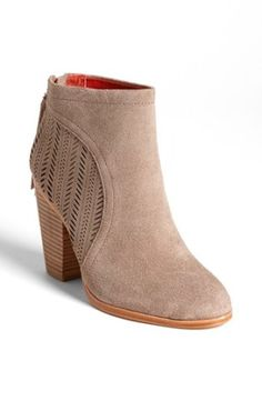 COACH 'Honey' Booties in Taupe Suede