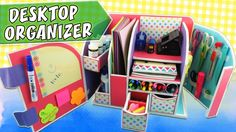 11:35  DESKTOP ORGANIZER - Cardboard - Back to school | aPasos Crafts DIY