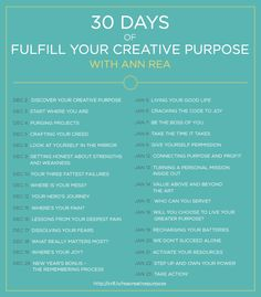 Fulfill Your Creative Purpose with Ann Rea | CreativeLive - Learn. Be Inspired.