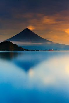 Mt. Mayon, island of Luzon, Philippines by Raymond Recato