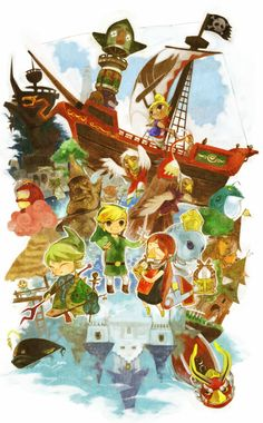 So cute!  Collage of the major characters from Windwaker.