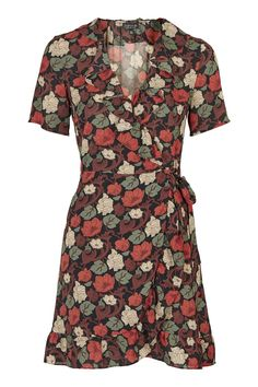 Topshop Bell Flower Tea Dress as seen on Karlie Kloss Frilly Dresses, Ruffle Dress, Ysl, Rebecca Minkoff, Plunging V Neck Dress, Yves Saint Laurent, Floral Tea Dress, Plunge Dress, Ootd