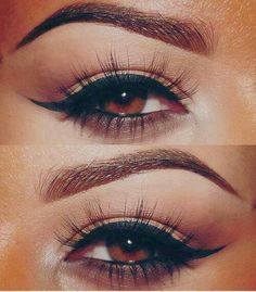 Perfect eyeliner with perfectly shaped eyebrows