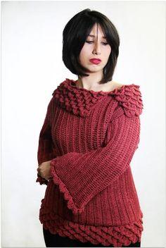 Crocodile Stitch Crochet Tunic - Knitting Patterns and Crochet Patterns from KnitPicks.com