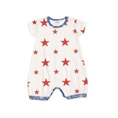 Baby Girl Summer Outfit Stars Bubble Romper TesaBabe by TesaBabe