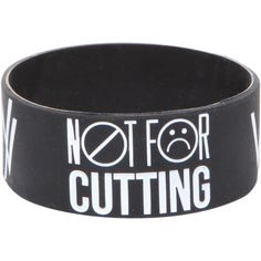 Sleeping With Sirens Wrists Rubber Bracelet | Hot Topic found on Polyvore Check out the website to see more