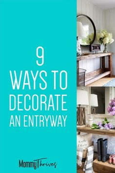 5 Ways To Pull Off Industrial Farmhouse Decor – Mommy Thrives Entryway Mirror, Rustic Entryway, Entryway Decor, Entryway Tables, Entryway Ideas, Entry Hallway, Wall Decor, Industrial Farmhouse Decor, Modern Farmhouse Kitchens