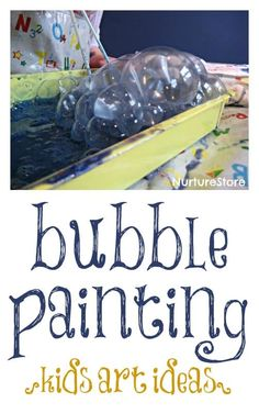 bubble painting kids craft 1