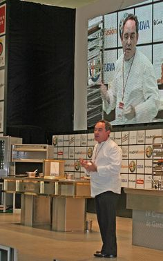 Ferran Adrià on stage at Madrid Fusion 2006. Photo by Gerry Dawes©2013. Contact gerrydawes@aol.com for publication rights.
