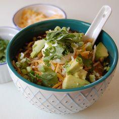 rabbit food rocks: Vegetarian Tortilla Soup Bar